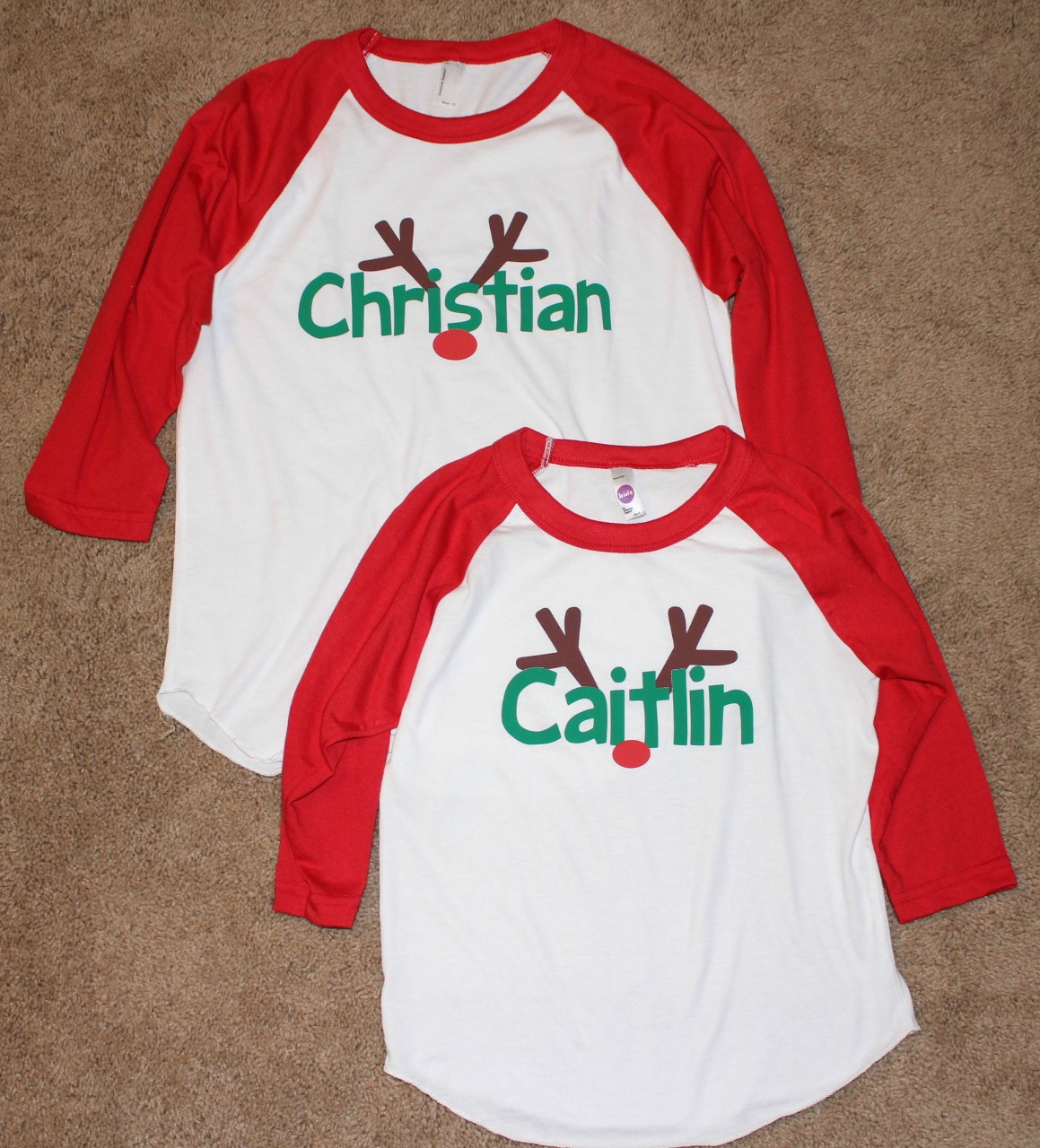 Kids Christmas Shirts.The Story Of Three Personalized Kids Christmas Shirts From