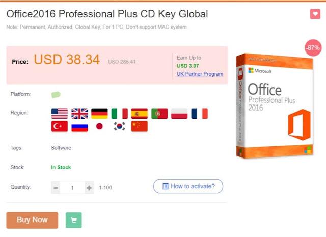 احصل على ويندوز 10 بسعر رخيص ومايكروسوفت اوفيس بمفتاح  قانوني