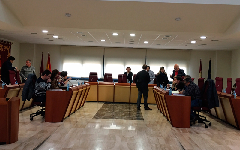 IMAGEN DE ARCHIVO,  un momento de una sesion plenaria en el ayuntamiento de Illescas