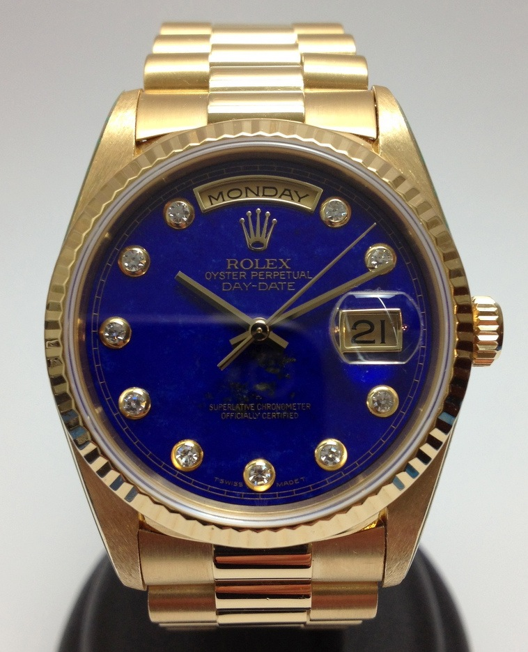 Hong Kong Watch Fever 香港勞友 Rolex Day Date Lapis Blue For