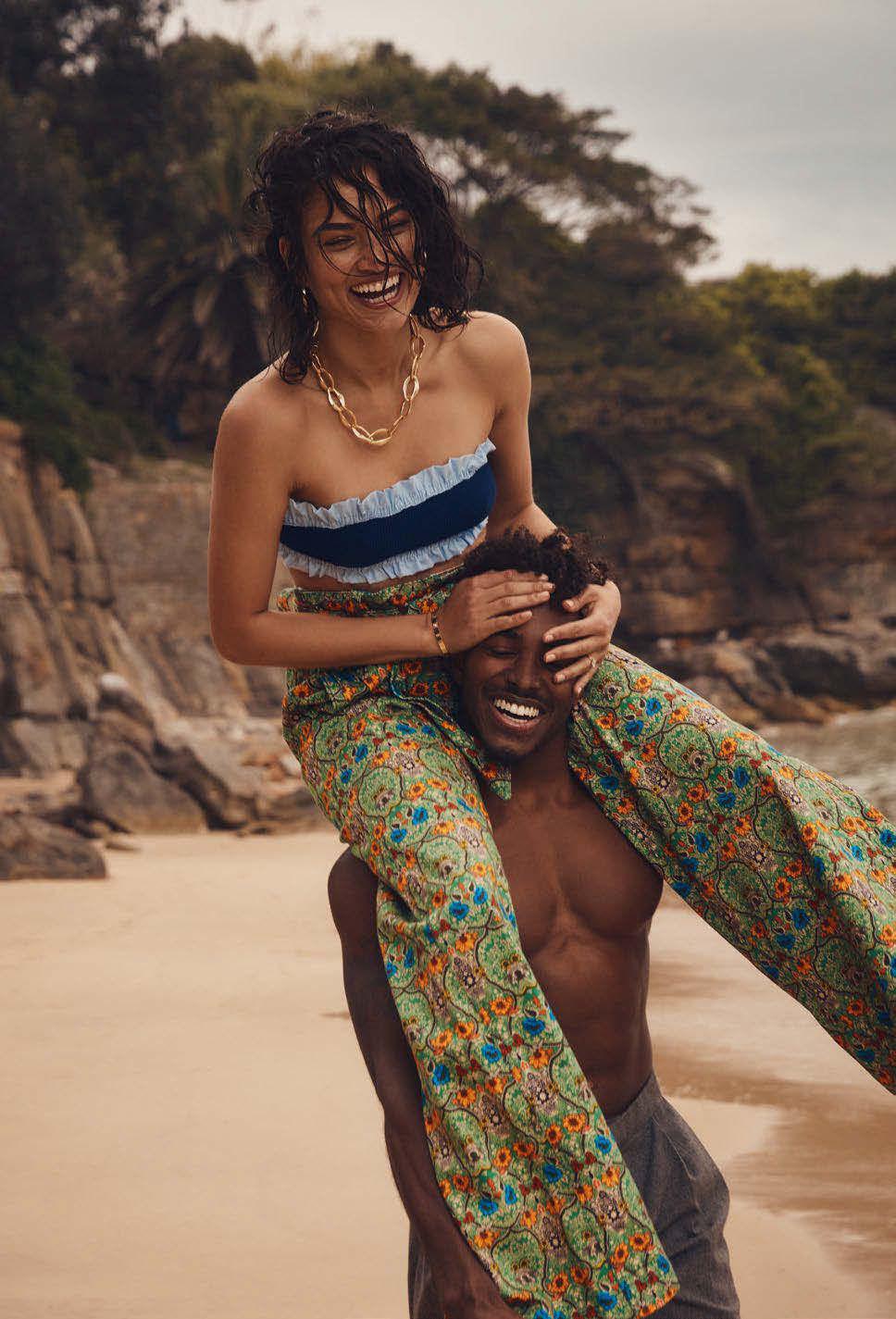 Smile: Shanina Shaik & Dj Ruckus in Elle Australia January ...