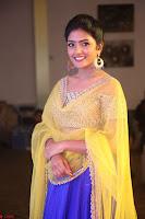 Actress Eesha in Yellow Choli Blue Ghagra at Darshakudu music launch 047.JPG