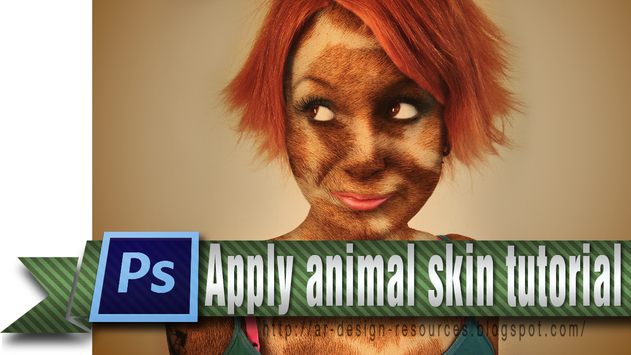 How to apply an animal skin in Photoshop cs6