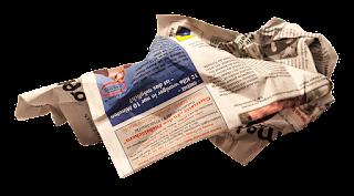 zerknüllte Zeitung