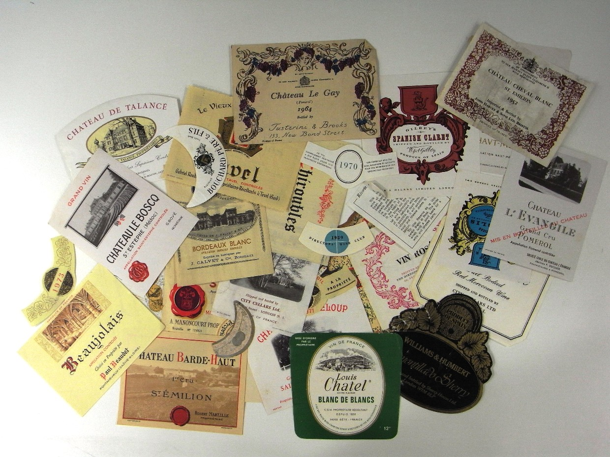 Wine Labels in the Charles Hasler Collection (CH/5/4/5).