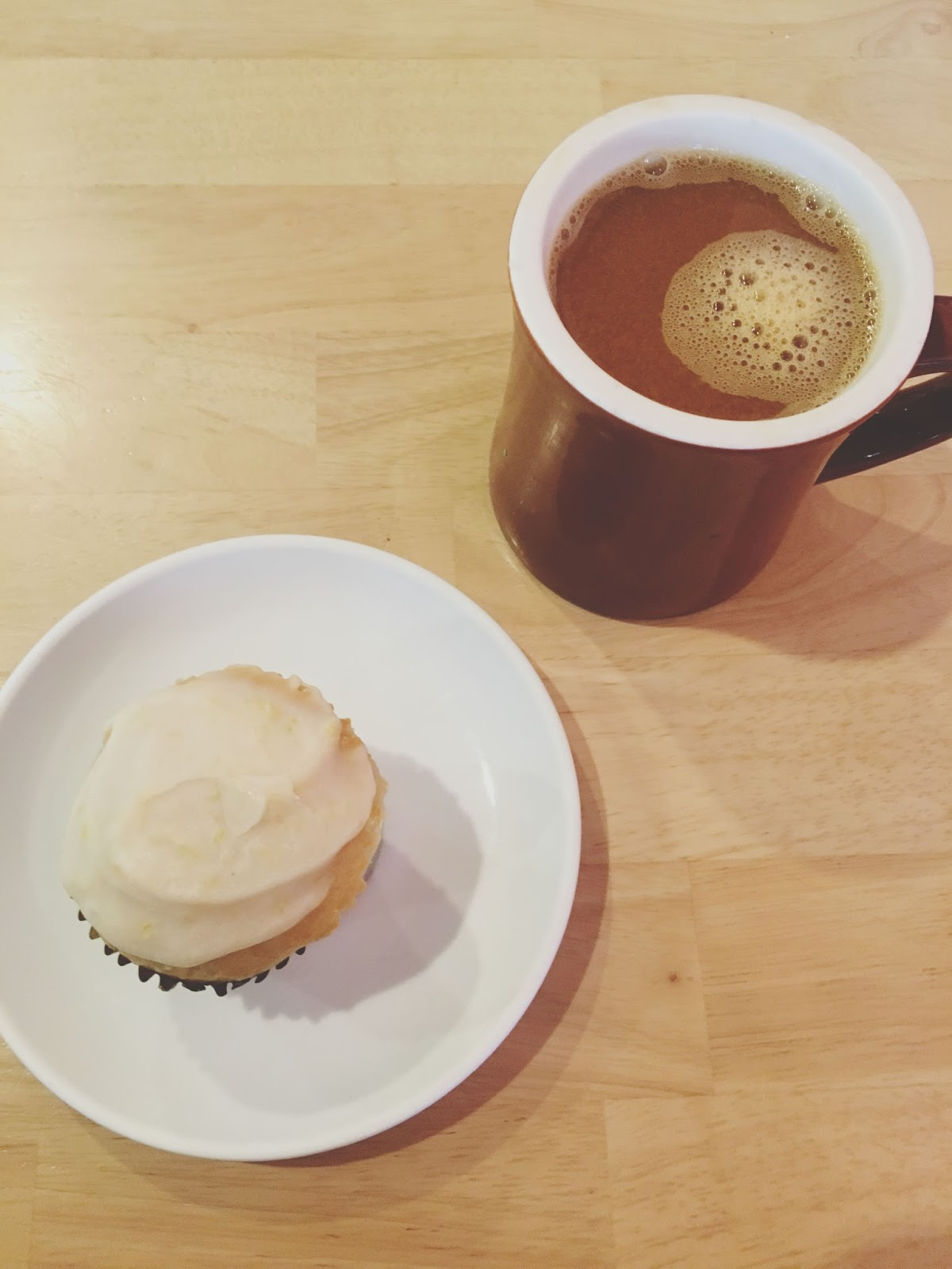 vegan lemon cupcake at 2Tarts - a bakery in New Braunfels, Texas