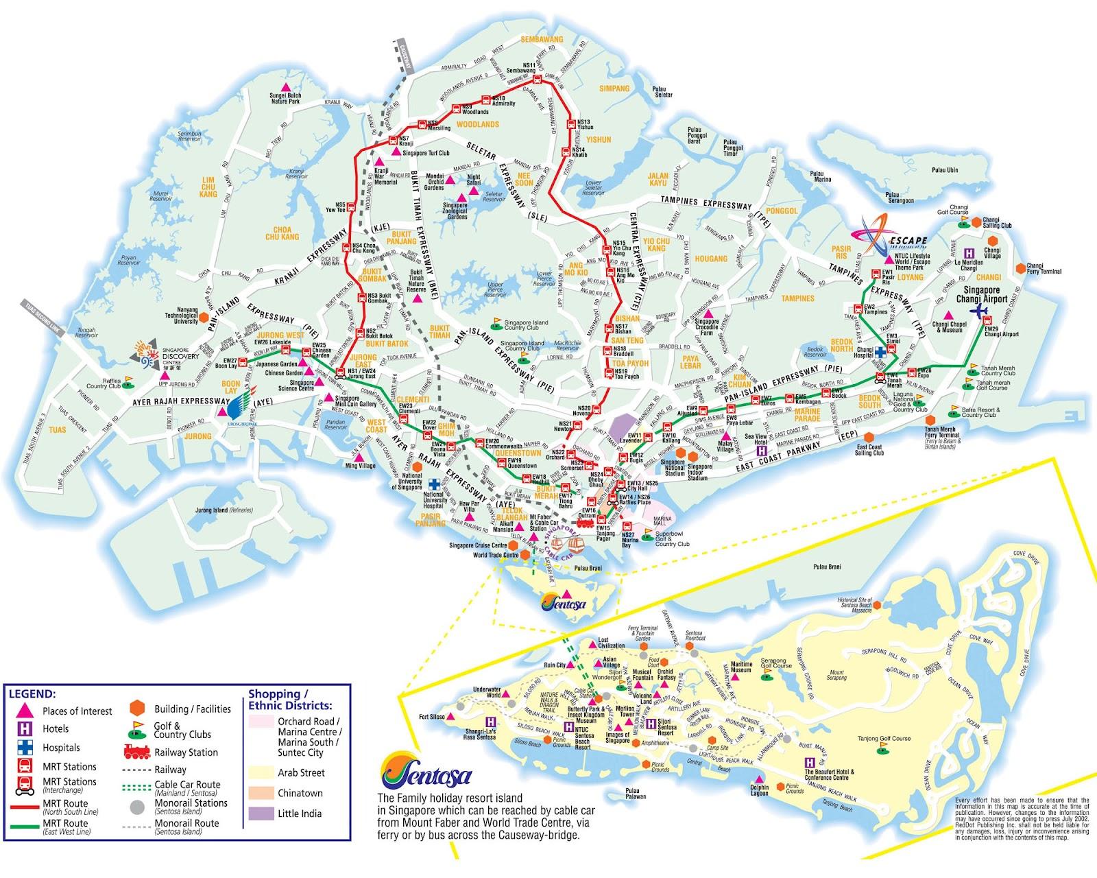 Mapas de Singapura ou Cingapura