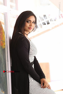 Telugu Actress Karunya Chowdary Stills in Black Dress at Soda Goli Soda Movie Opening  0136.JPG