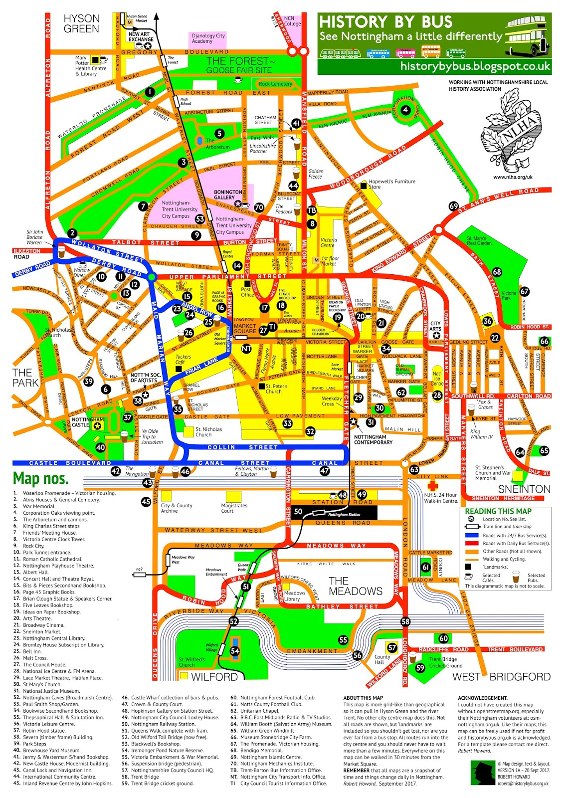 BeestonWeek: New version of Nottingham City Centre Map on