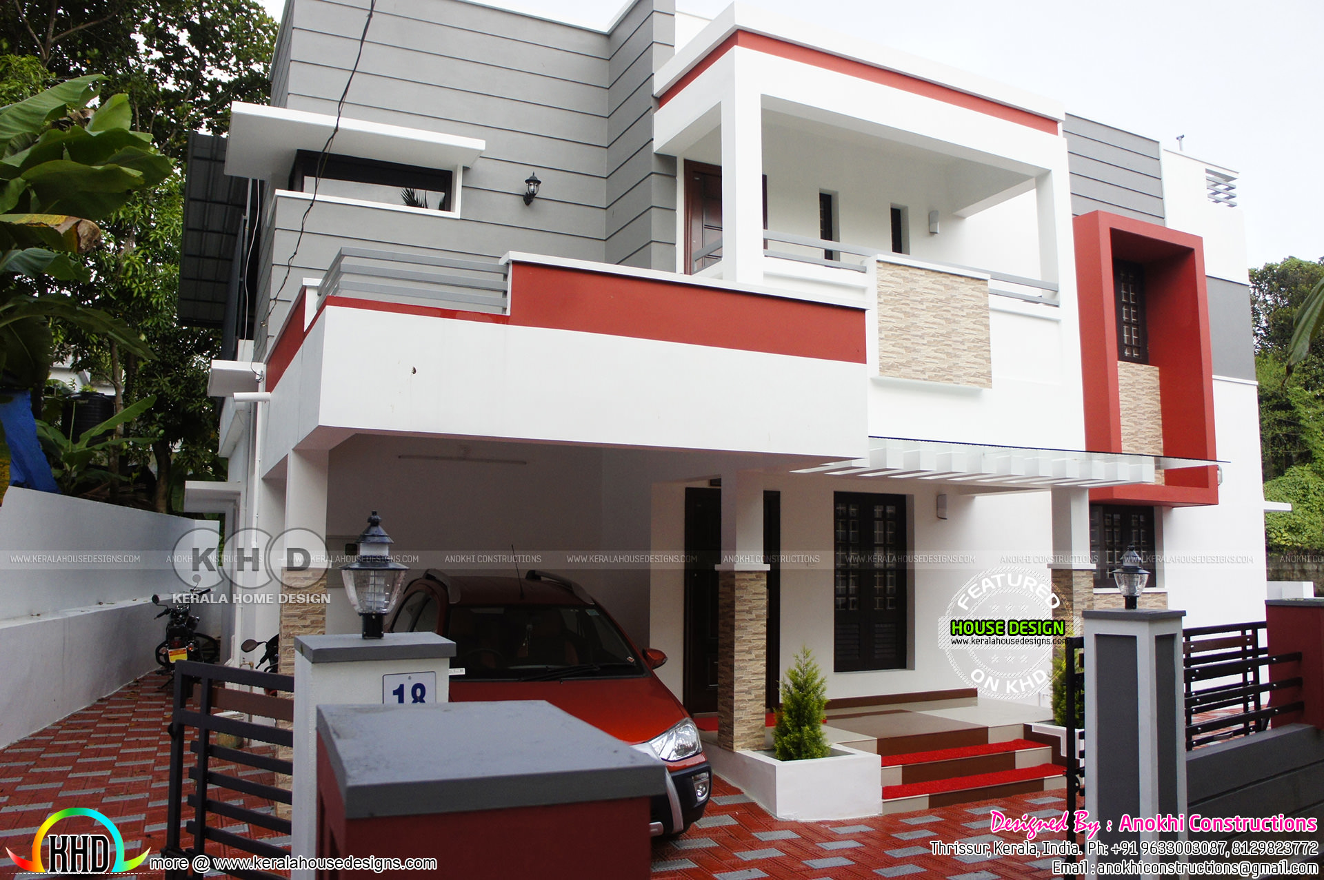 Budget friendly finished home and interiors kerala home for Kerala elevation