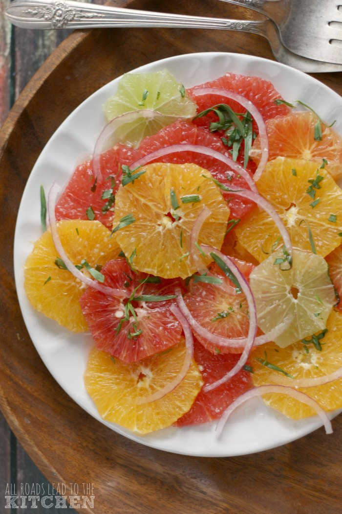 Citrus Salad with Honey-Tarragon Vinaigrette | #ProgressiveEats