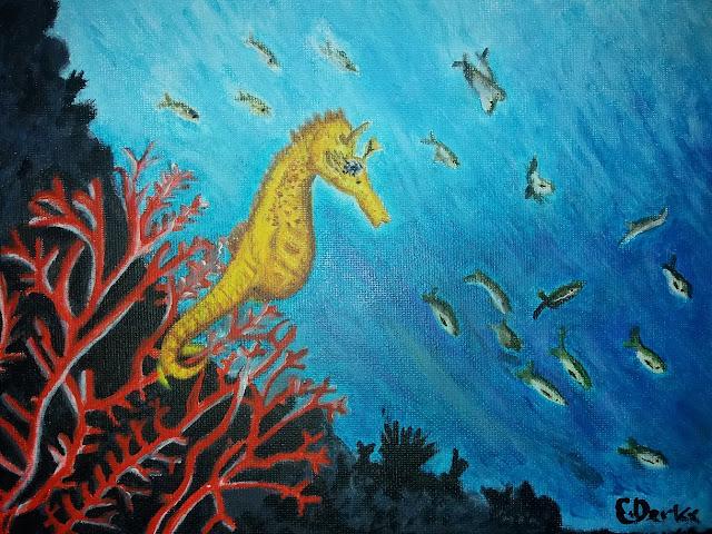 Seahorse Painting by Ellis Derkx