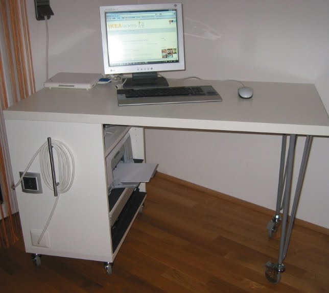 Computer Table With Shelf For Printer
