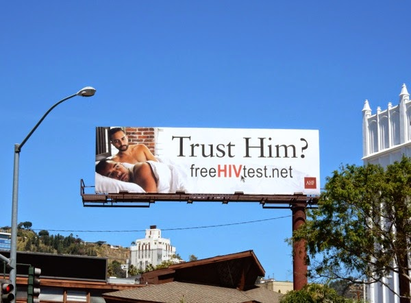 Trust Him HIV test gay billboard