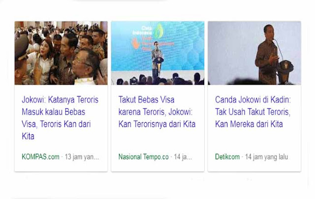 Presiden Jokowi: Teroris kan dari kita