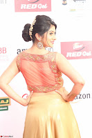 Harshika Ponnacha in orange blouuse brown skirt at Mirchi Music Awards South 2017 ~  Exclusive Celebrities Galleries 009.JPG