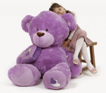 Meet Sewsie Big Love 47in lavender purple teddy bear