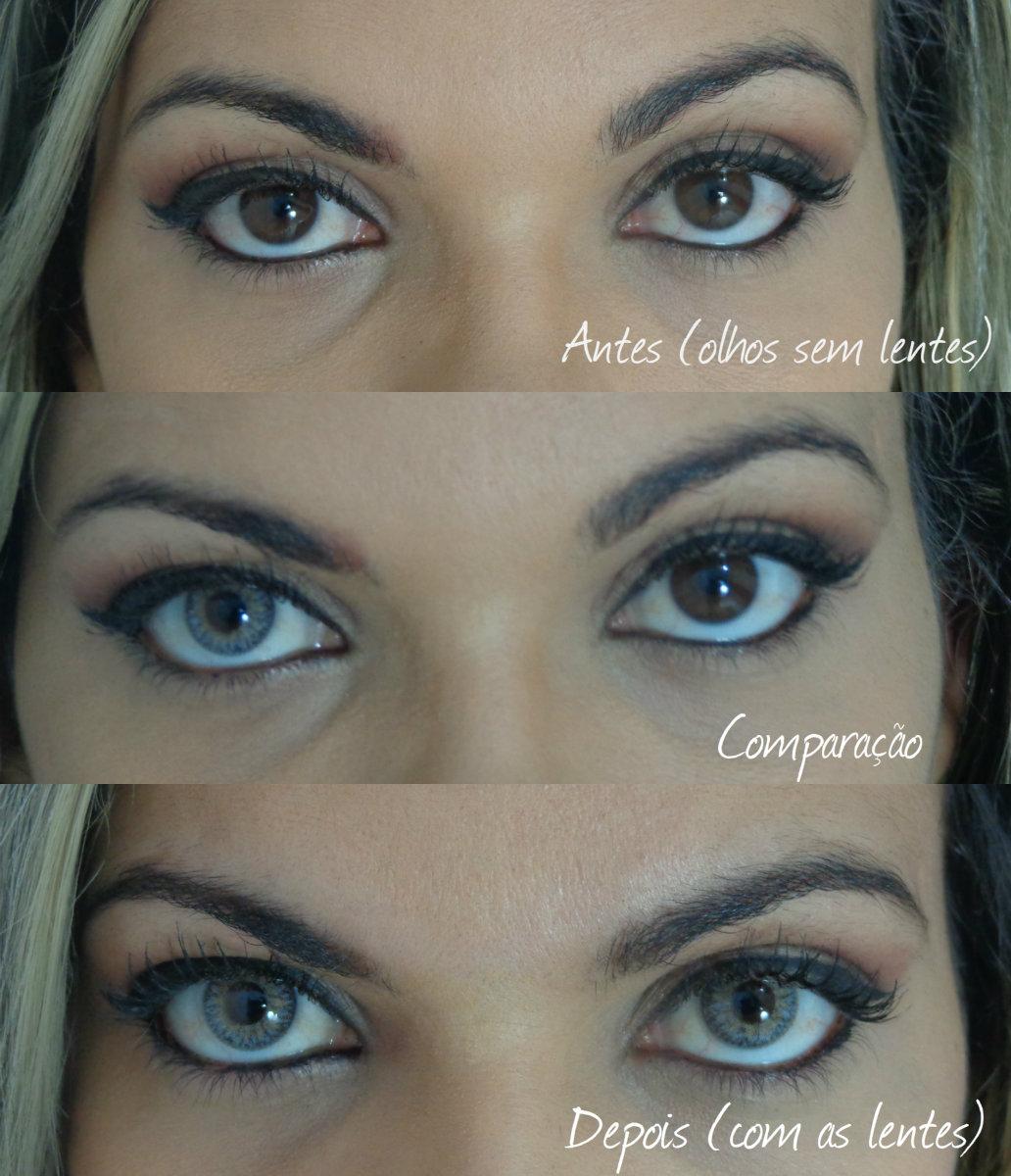 33c681ecf86a3 Resultado das lentes Lunare tri-kolor nos meus olhos
