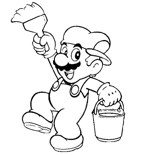 Super mario coloring pages free printable coloring pages for Super mario 64 coloring pages