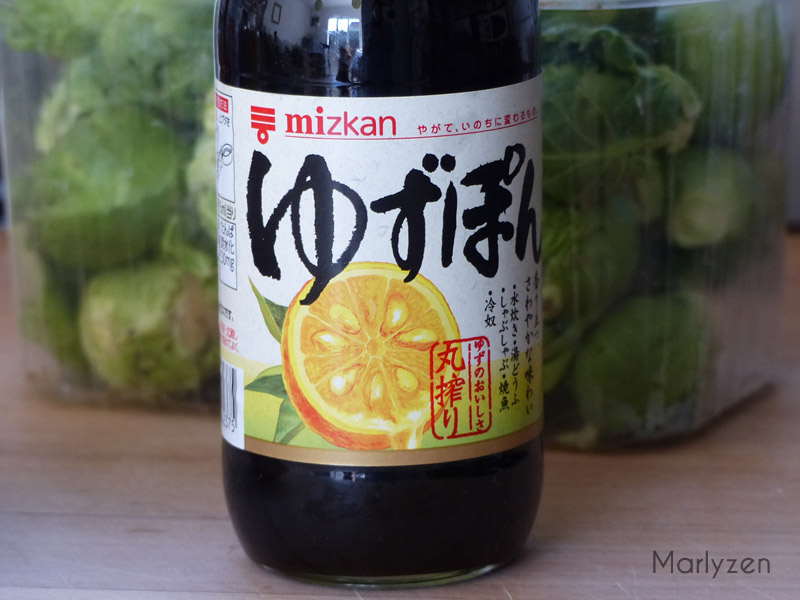 Sauce ponzu japonaise.