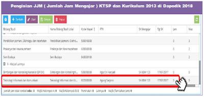Pengisian JJM ( Jumlah Jam Mengajar ) KTSP dan Kurikulum 2013