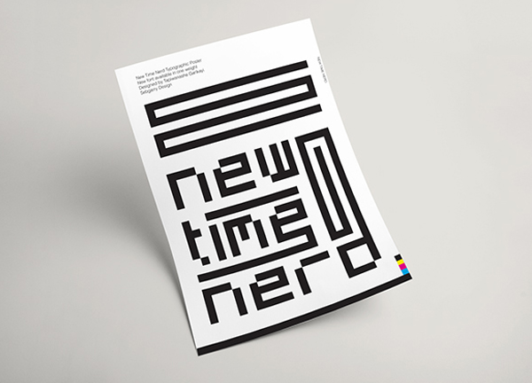 Download Font Terbaru 2018 - New Time Nerd Free Font