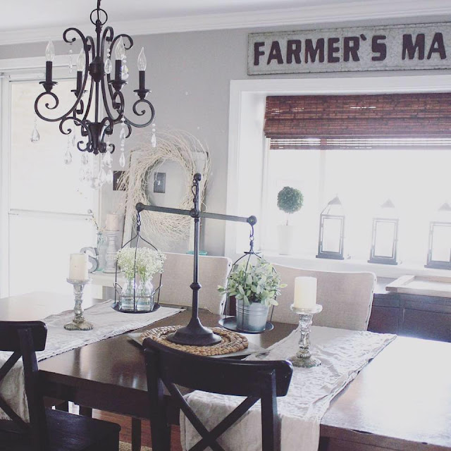 The best farmhouse glam lighting for under 250 the for Glam dining room ideas