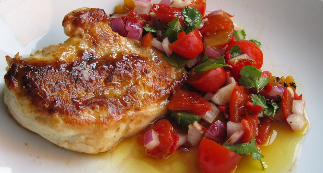Salsa with chicken