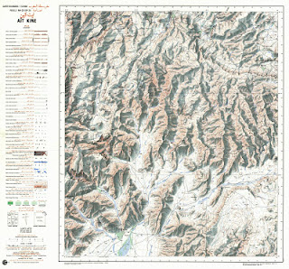 Ait-KINE Morocco 50000 (50k) Topographic map free download
