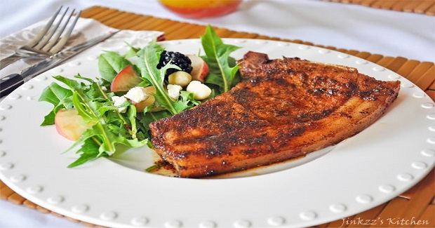 Pork Chops With Spices And Cocoa Powder Recipe