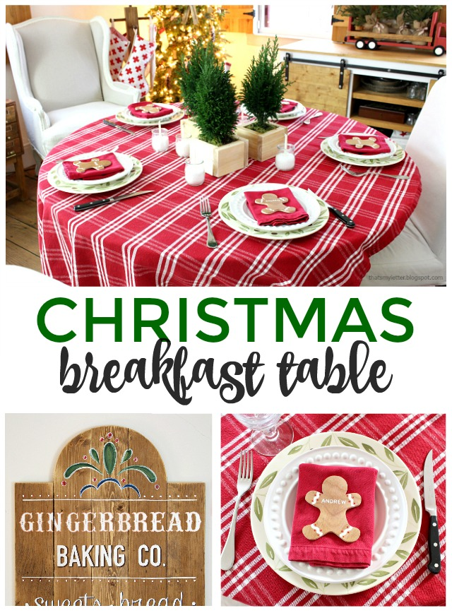 christmas breakfast table