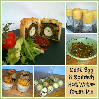 Hand Raised Quail Egg & Spinach Dinky Pies