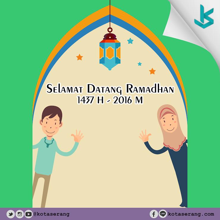 Gambar Vector - Marhaban Ya Ramadhan 1437 H / 2016 M