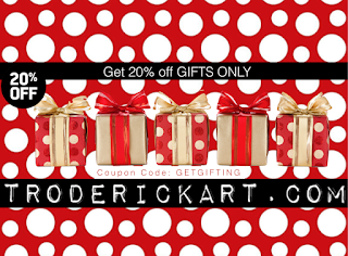 20% off coupon code getgifting troderickart.com