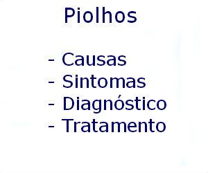 Piolho causas sintomas diagnóstico tratamento prevenção riscos complicações