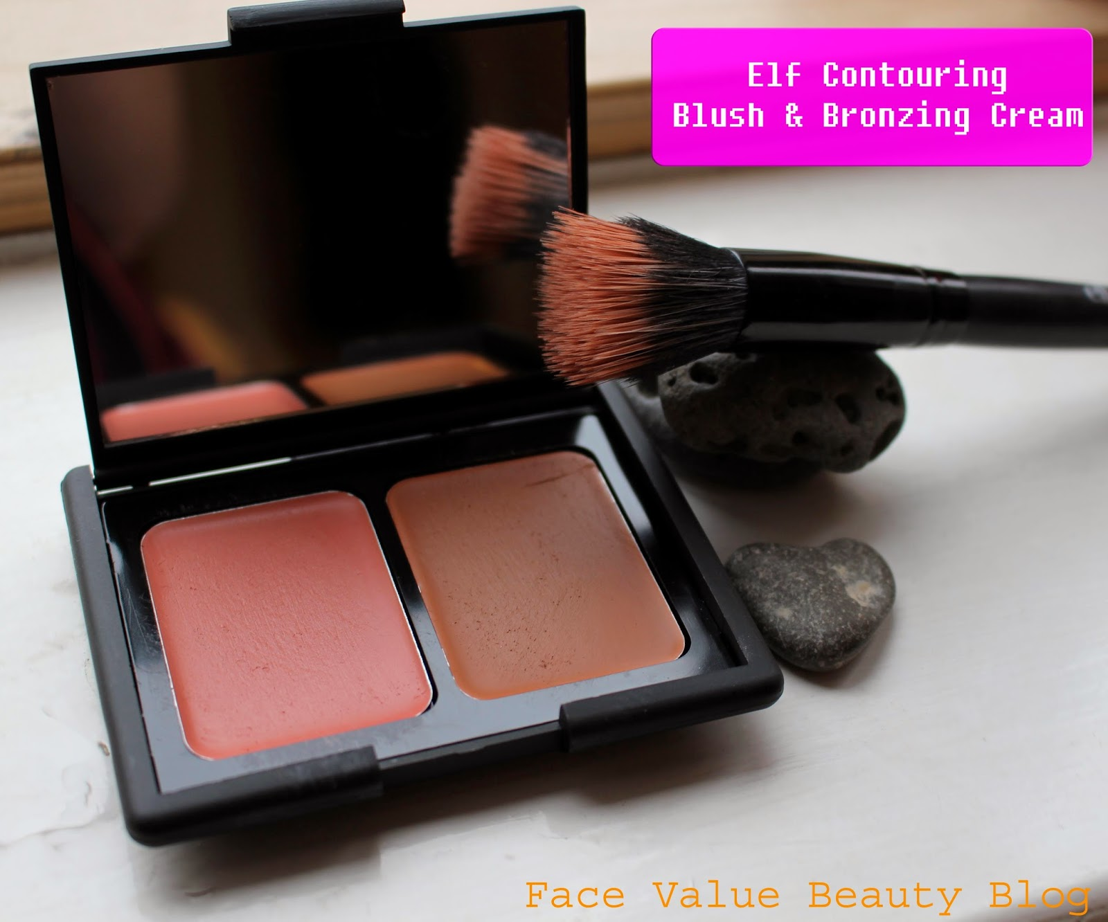 elf cosmetics stipple brush st lucia cream blush bronzer beauty blog review
