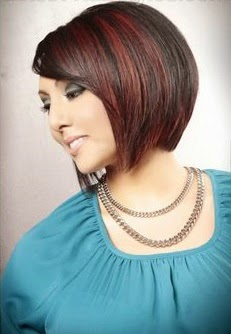 Sleek Bob Hairstyle with Highlights