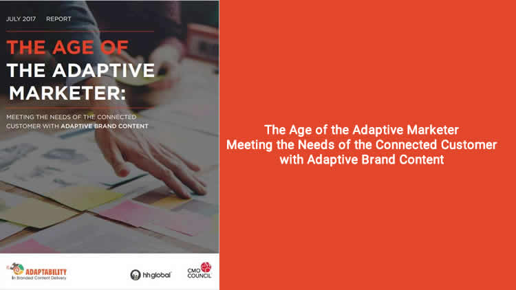 The Age of the Adaptive Marketer - 100% Free Research Report
