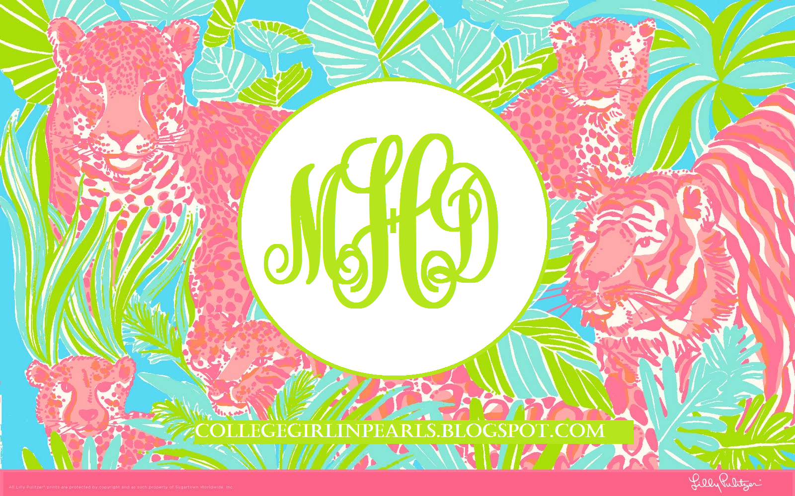 College Girl in Pearls: DIY Monogram Desktop Backgrounds! (Using Microsoft Paint)