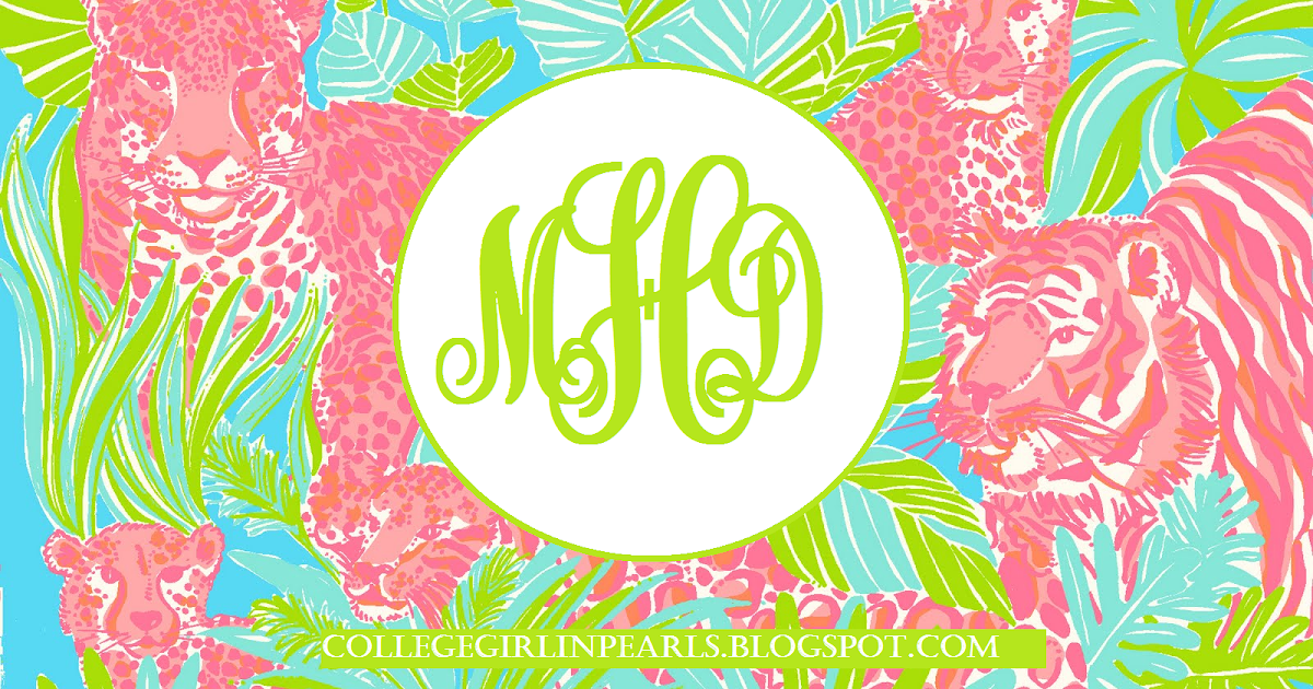 College Girl in Pearls: DIY Monogram Desktop Backgrounds! (Using Microsoft Paint)