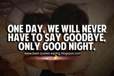 good night one day,