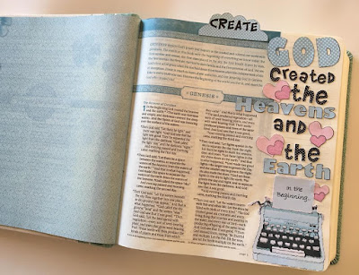 Bible Page from the Book of Genesis using lot95design goodies from Etsy