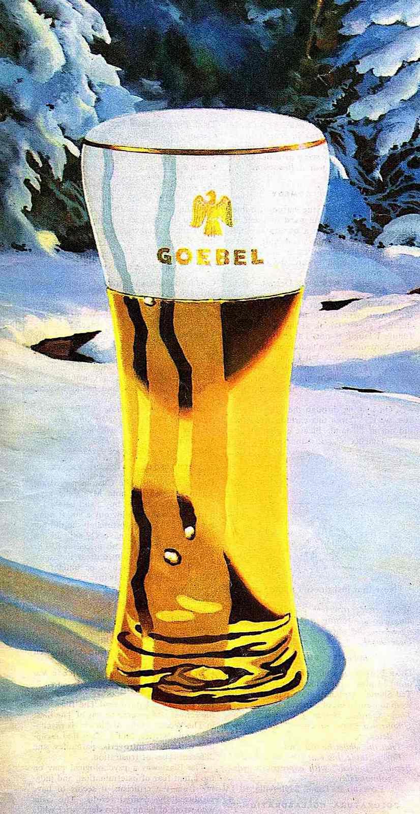 a 1947 George Shepherd illustration of Goebel Beer