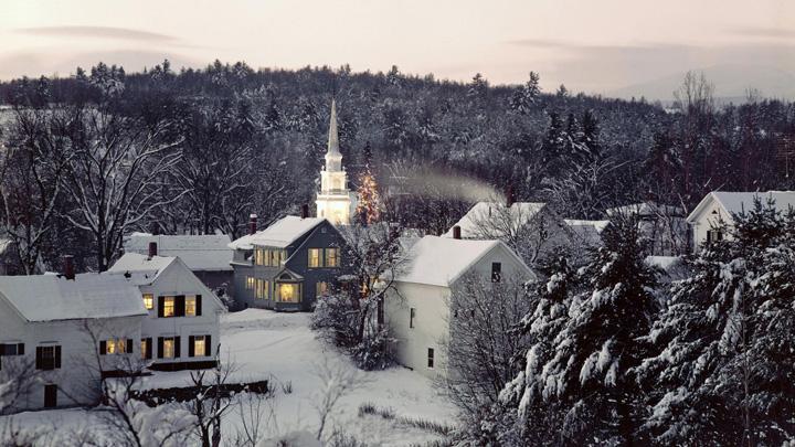 kışın şehir manzara resimleri
