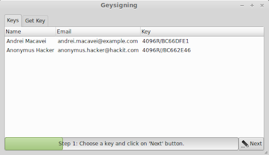 GSoC Report #1 - Have a look at GUI for Geysigning (GNOME-signing)