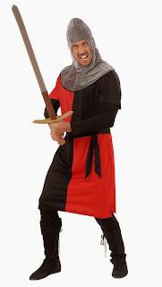 Rød ridder dragt