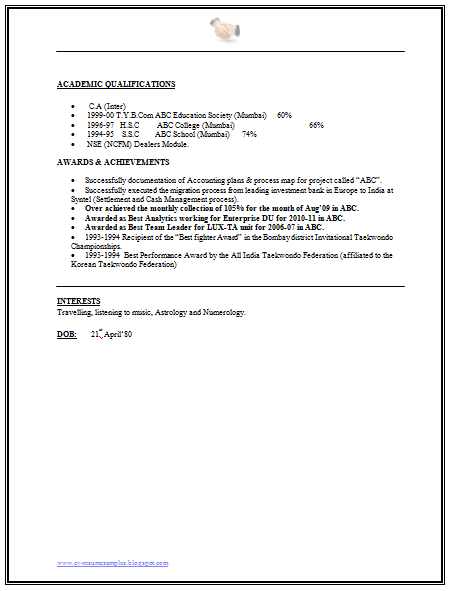 financial analyst resume samples