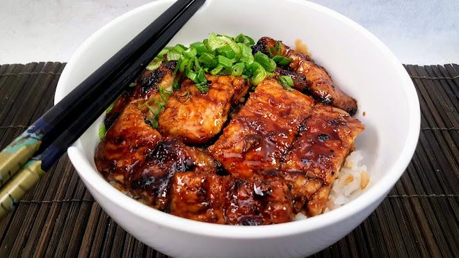 Unadon, anguille grillée sauce Unagi