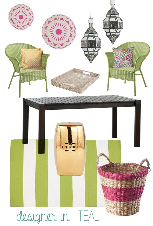 Designer In Teal Spring Inspiration Mood Board Collaboration