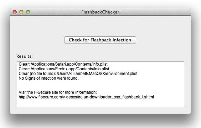 FlashBack Checker - Tool Detects Flashback Mac Malware